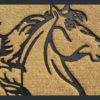 Horses Head Mat, Coir Door Mat