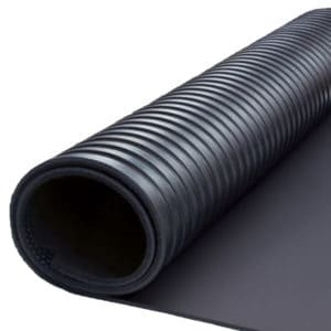Slip resistant rubber sheets