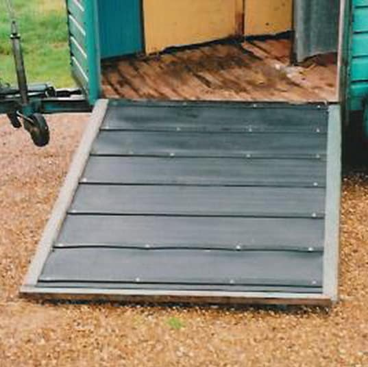 rubber trailer mat for a horsebox