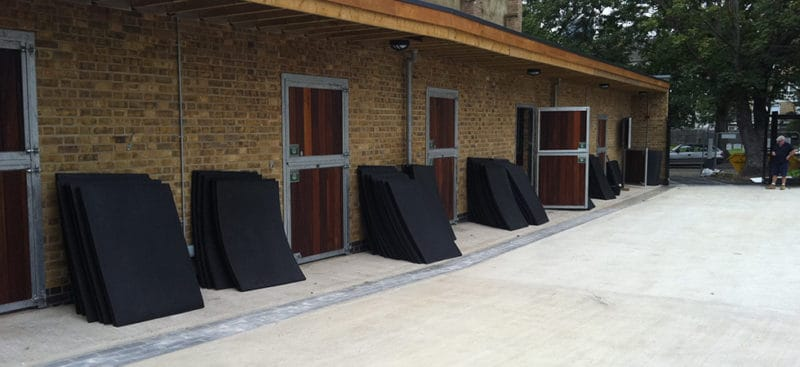 Installing Stable Mats at the Ebony Horse Club Brixton