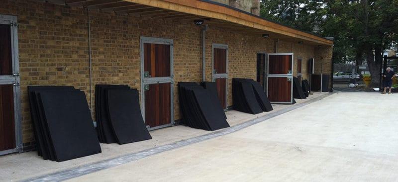Installing Stable Mats at the Ebony Horse Club Brixton