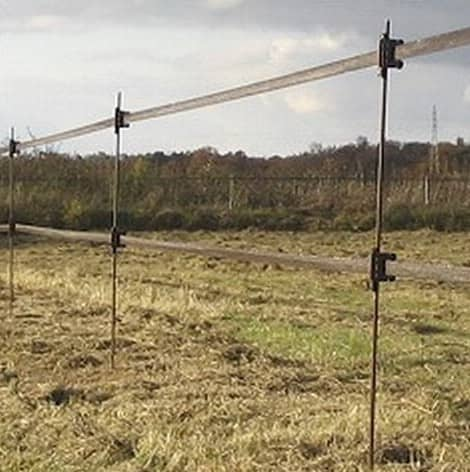 Glass fibre fence stakes
