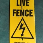 Live Electric Fence Warning sign – R27