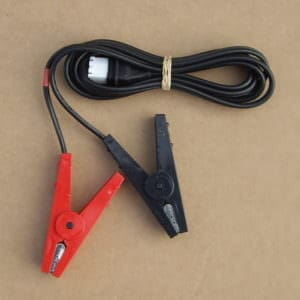 electric fence battery leads