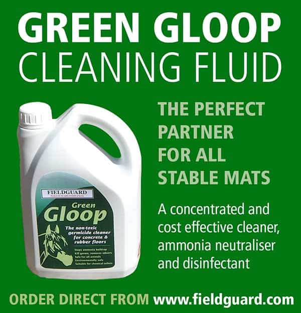 Green Gloop Cleaning Fluid for Rubber Mats and Stable Mats