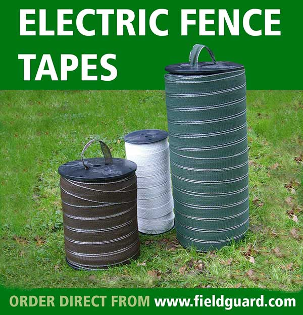 Electric Fence Tapes from Fieldguard, Electric Tape, Electric Fencing