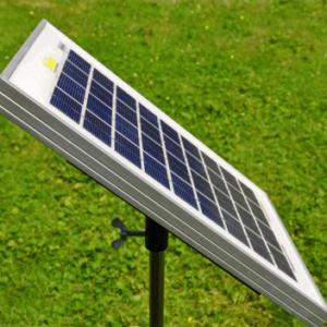 Solar panels for energisers