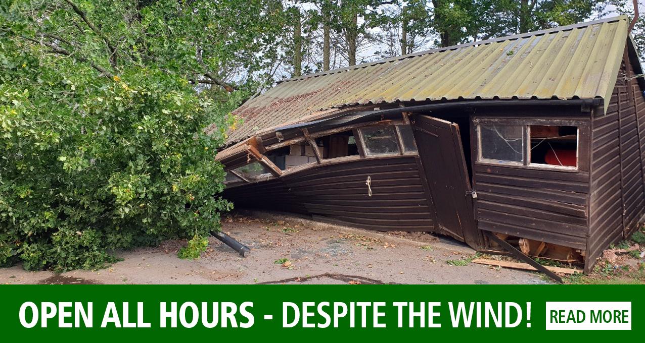 Still open all hours - despite the wind