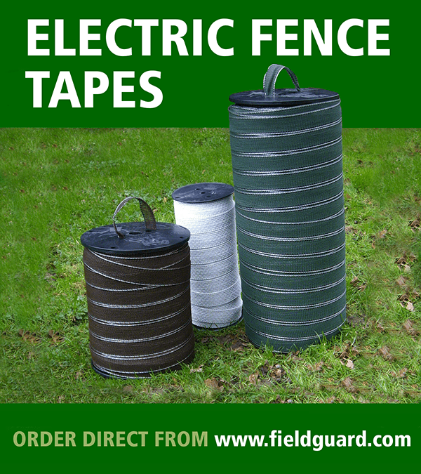 Fieldguard electric fence tape